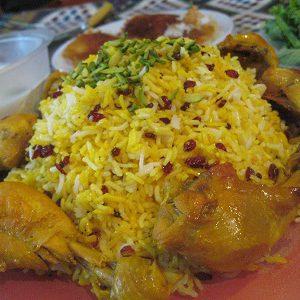 دستور آشپزی زرشک پلو با مرغ